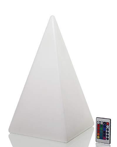 Arnusa Oasis Lights Stehlampe mit Fernbedienung LED Leuchte Tischlampe Pyramide groß (26x48x26cm)