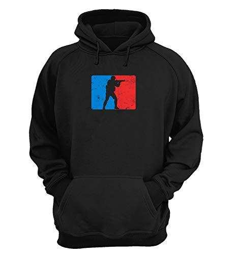Generic Counter Strike Blue and Red Logo_KK023219 Hoodie Kapuzenpullover Kapuzen Novelty Design Gift Unisex Men's Women's Youth - Medium - Black