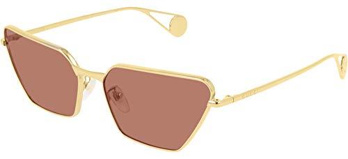 Occhiali da sole Gucci GG0538S GOLD/RED donna