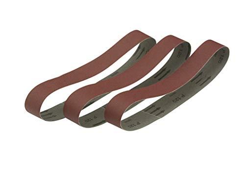 Dewalt Schleifbänder für Stationärschleifer DT3345 (Mehrzweck - für Metall, Holz und Lack, 150er Körnung, 40x577 mm, hochfestes und flexibles Gewebe der Klasse X), 3 Stück