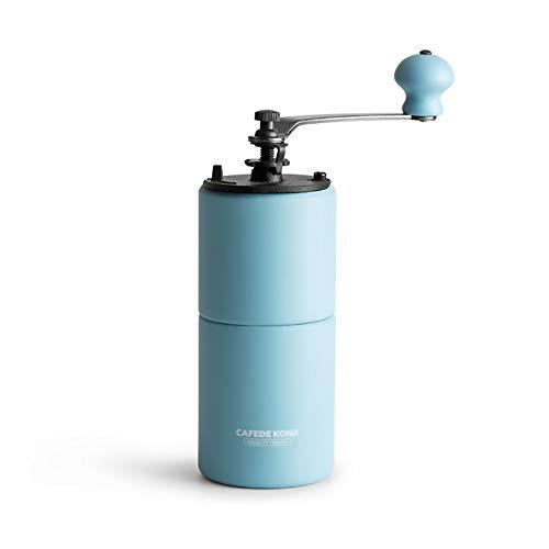 Lucky Big Head YY Handkaffeemühle, Schleifmaschine Haushalt Manuelle Fräsen Kaffeebohnen, EIN Gummi-Holz, Optional Farbe 215 * 70Mm,Blau