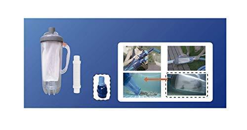 well2wellness® Vorfilter mit großem Filterkorb für Poolsauger, Pool Bodensauger + Pool Elektrosauger (022020)