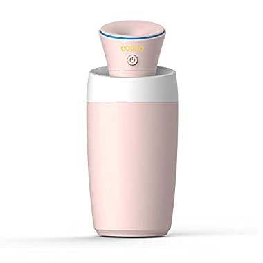 DOGOO Mini Portable Creative Humidifier, Cool Mist Ultrasonic Humidifier Powered by USB, Auto Shut-off, Extremely Quiet, Perfect for Home, Office, Car interior,or On-the-go(Color Pink)