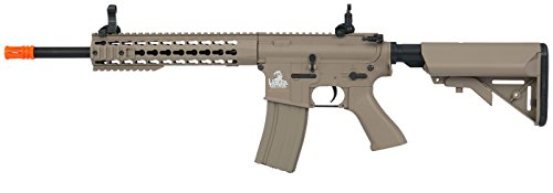Lancer Tactical Full Metal Gear with 10' Rail Interface System Polymer Body (Dark Earth)