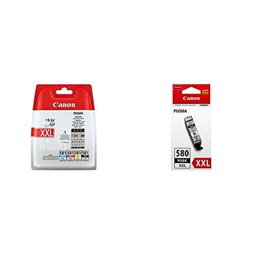 Canon CLI-581XXL Multipack 11.7ml 11.7ml Nero, Ciano, Magenta, Giallo cartuccia d'inchiostro & PGI-580PGBK XXL 25.7ml Pigmento nero cartuccia d'inchiostro