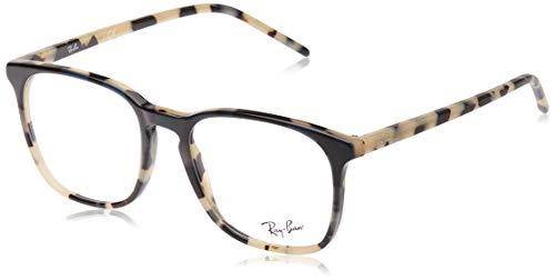Ray-Ban RX5387 Square Prescription Eyeglass Frames, Blue Gradient Tortoise Beige/Demo Lens, 52 mm