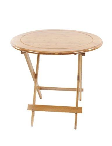 Table Pliante Simple Table d'apprentissage Table Ronde Pliante Portable d'extérieur Bambou