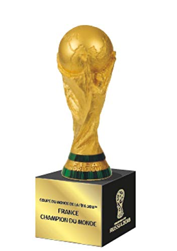 FIFA 100mm Trophy on podest/France Champions Edition, Adultos Unisex, Gold