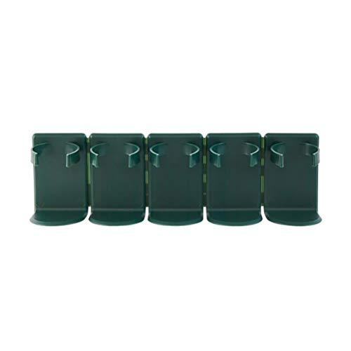 Merkts Gewürzglas-Wandhalterung, Küchengewürzglashalter, Wandmontage, Schrank, Gewürzregal, Pfefferkorn, Gewürzflaschen, Aufbewahrungsregal (grün)