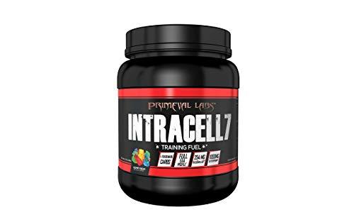 Primeval Labs Intracell 7 Black Intra Workout Supplement Powder, Enhances Performance, Supports Hydration, Improves Metabolism and Muscle Recovery for Optimal Performance, Gummy Bear, 40 Servings