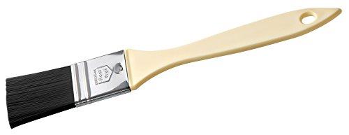 Zenker Teflon®-Backpinsel 21 cm PATISSERIE, Pinsel zum Kochen und Backen, Ideal zum Einfetten und Glasieren, (Farbe: Schwarz/Silber/Creme), Menge: 1 Stück