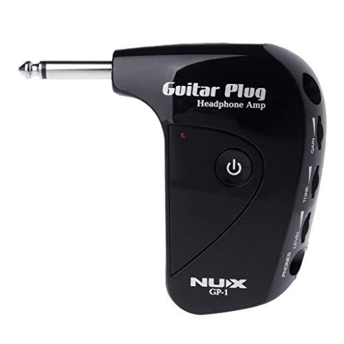 S-TROUBLE NUX GP-1 Amplificador de Auriculares con Enchufe de Guitarra eléctrica portátil...