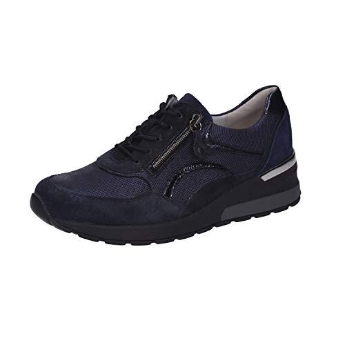 Waldläufer Damen Keil-Sneaker H-Clara Blau, Schuhgröße:EUR 38