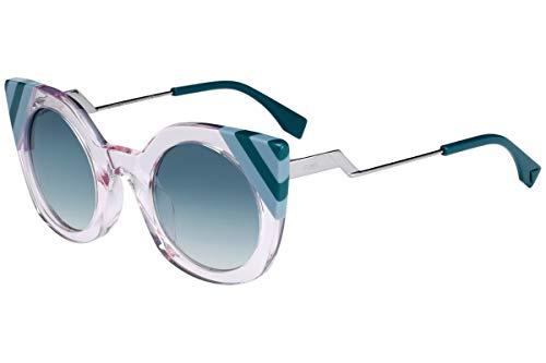 occhiali da sole donna fendi FENDI Donne FF0240 / S Occhiali da sole w/Verde Gradiente Lens 47 millimetri 35J9K FF0240S FF 0240S FF 0240 / S Rosa Grande