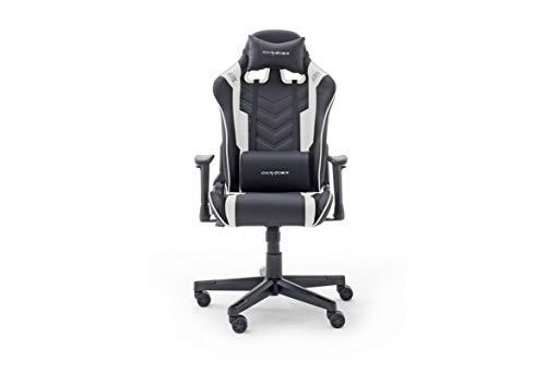 Robas Lund DX Racer Sport OK 132 Gaming Stuhl Bürostuhl Schreibtischstuhl mit Wippfunktion Gamer Stuhl Höhenverstellbarer Drehstuhl PC Stuhl Ergonomischer Chefsessel, schwarz-weiß