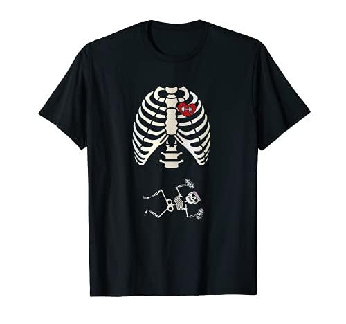 I Love Training Esqueleto Fitness Powerlifting Halterofilia Camiseta