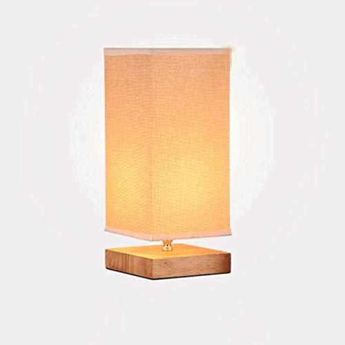 Qivor candelabro Lámpara de Noche de Madera Maciza Lámpara de Mesa de Tela de la Sala de Estar de Estilo nórdico Minimalista Moderno