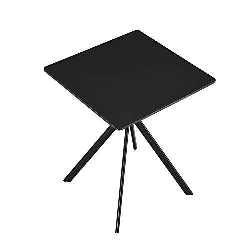 [en.casa] Esstisch - Schwarz 60x60x75cm - Küchentisch Esszimmertisch Besprechungstisch Konferenz-Tisch