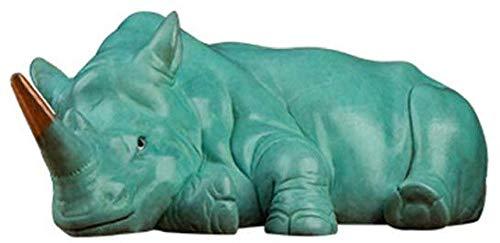 AIJOAN-BJ Statue De Sculpture Ornement De Statue Rhino Statue Décoration Sculpture Animale Vache Rétro Cuivre Créatif Bureau Bureau Artisanat