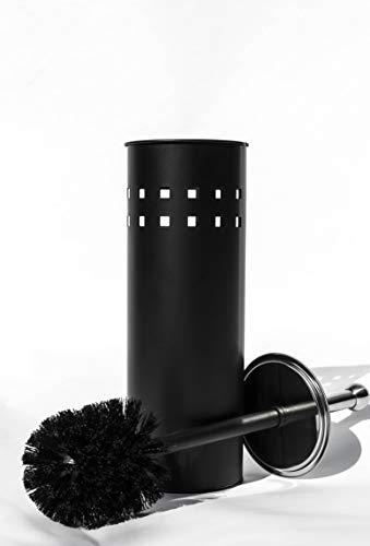 Toilettenbürste Schwarz Moderne Klobürste Edelstahl WC Bürste mit Bürstenhalter badaccessoires mit geschlossene Klobürstenhalter Toilettenbürstenhalter Toilet Brush (Black)