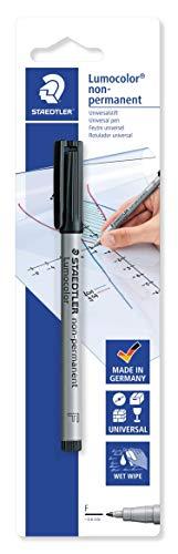 Staedtler 316-9 BKDA Lumocolor Universalstift F-Spitze circa, 0.6 mm, non-permanent, schwarz