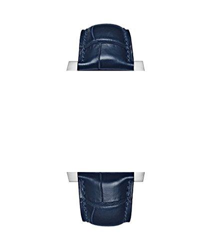22/18mm orologio cinghie in pelle blu/blu a coccodrillo stile con...