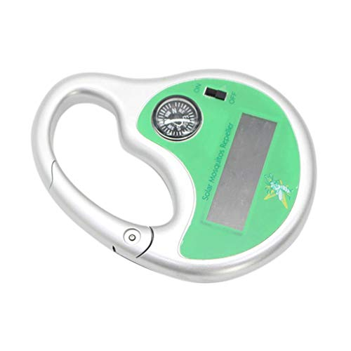 YESjikil Solar Mosquito Repellent Portable Solar Powered Sonic Mosquito Insect Repeller with Compass