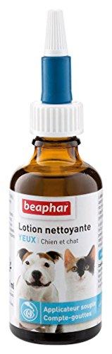BEAPHAR – Lotion nettoyante pour les yeux du chien et du chat – Permet un nettoyage en douceur – Applicateur souple – Système compte-gouttes – Pratique et facile à utiliser – 50 ml