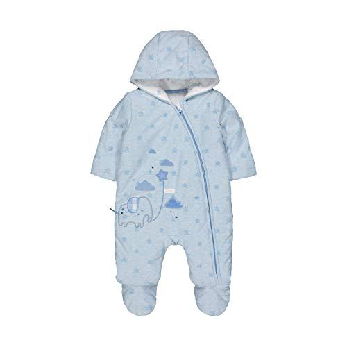 Mothercare NB MFB Star Velour Pramsuit Set, Nero (Blue 128), 12-18 Months (Manufacturer Size:86) Unisex-Bimbi