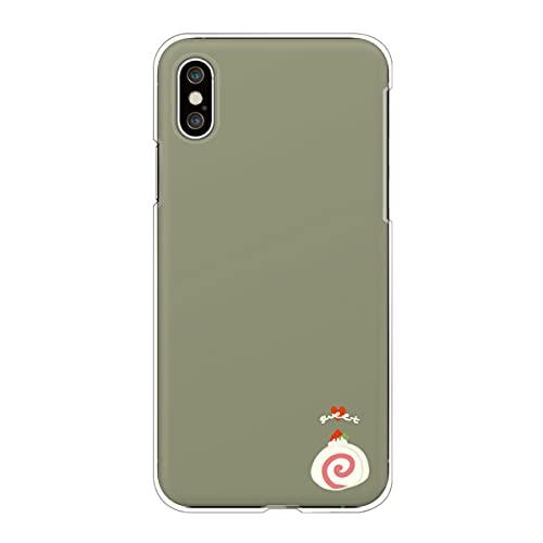 iPhone13 mini アイフォン 対応スマホケース 【E】カーキ スイーツ柄 ワンポイント ロールケーキ いちご ハート かわいい くすみカラー case6339
