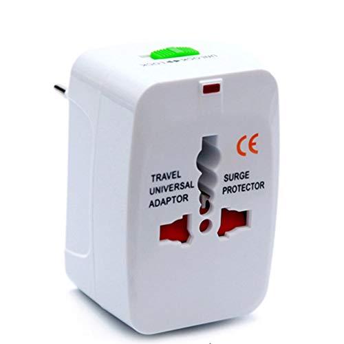 Convertidor de Enchufe de conversión Universal convertidor de Enchufe de Viaje de Hierro de Aluminio Blanco