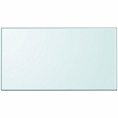 Festnight- Glas Tischplatte 120 x 65 cm Glasplatte Ersatzteil Quadratisch Tischplatte aus GEH?rtetem Glas Transparent