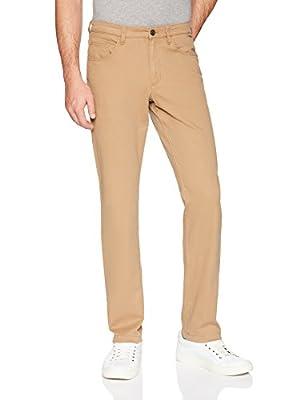 Amazon Brand - Goodthreads Men's Slim-Fit 5-Pocket Chino Pant, Khaki, 34W x 32L