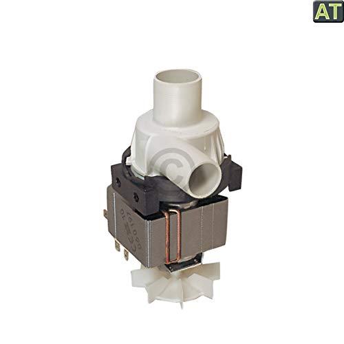 Europart 10001616 Ablaufpumpe Wasserpumpe Waschmaschinenpumpe Laugenpumpe Pumpe mit Pumpstutzen Hanning 100W Waschmaschine passend wie Whirlpool Bauknecht 481236018012