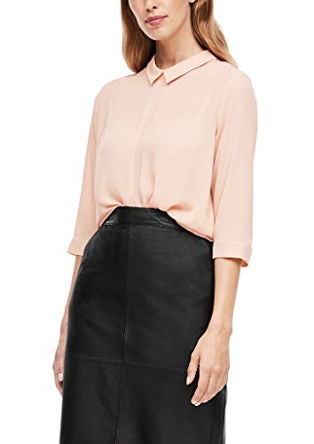 s.Oliver BLACK LABEL Damen Bluse mit Bubikragen Dusty Rose 40