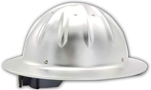 H-ei Aluminum Helmet Work Helmet Adjustable Protective Helmet Construction Helmet with 4-Point Webbing Strap Construction Helmet with Adjustable Helmet Construction Helmet Aluminum Hard