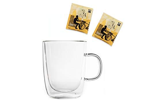 Snobby Feelino - Juego de té (taza térmica de 360 ml, 2 tazas de doble pared, 2 bolsas de té de camomila