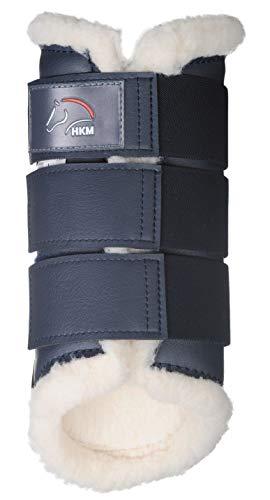 HKM 8585 Gamaschen Comfort, Teddyfutter Lederimitat-Kunstleder Anatomisch, dunkelblau, XL
