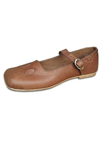 Battle Merchant - Mocasines de Piel para Hombre marrón marrón, Color marrón, Talla 42 EU