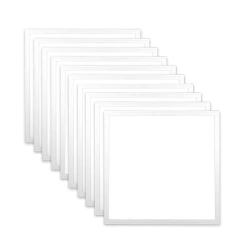 10x LED Panel 62x62 Neutralweiß 40W 5000K nicht dimmbar PMMA ultraslim Rasterleuchte LED 620x620 Xtend PLe2.1