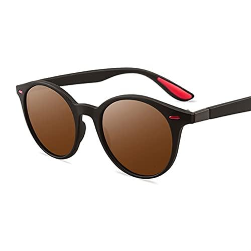 PPCLU Hombres polarizados Fashions Oval Pequeñas Gafas de Sol Clear Classic Sun Glasses Tendencias Femeninas Transparentes Tonos para Mujeres UV400 (Lenses Color : Brown)