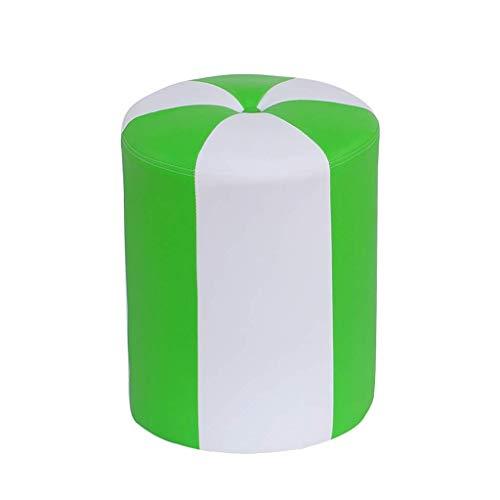 JSMY Reposapiés Taburete otomano,Sofá Vestir Cambio de Zapatos Banco tapizado-Sala de Estar Reposapiés Silla pequeña(Color:Verde)