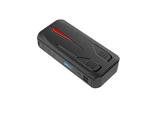 Arrancador de Coches Batería 1000A 12V 16800mAh Gasolina 6.5L y Diesel 4.0L,AWANFI Arranque Coche Portable para Vehículo y Motocicletas,QC3.0 Entrada Tipo-C Salidas USB Pantella LCD y Linterna LED SOS