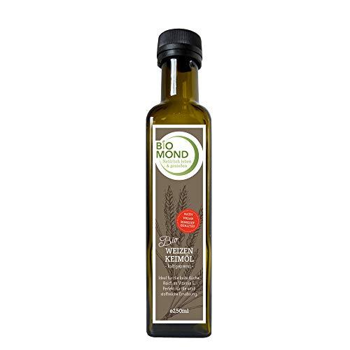 Bio Weizenkeimöl PREMIUM BIOMOND 250 ml / Gourmetöl / frisch kalt gepresst / nativ / vegan / Rohkostqualität