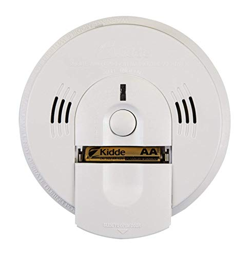 Kidde KN-COSM-IBA Hardwire Combination Smoke/Carbon Monoxide Alarm with Battery Backup and Voice Warning, Interconnectable - 21026041, White, 3 Pack