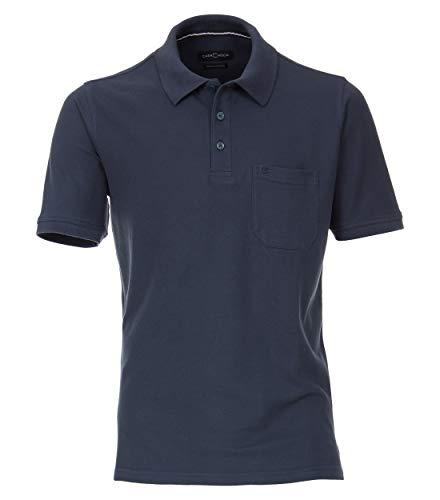 CASAMODA Herren Polo-Shirt Uni graues Dunkelblau XL