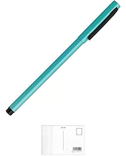 ゼブラ エマルジョンボールペン フォルティアem インク色:黒 軸色:ブルーグリーン BA98-BG + 画材屋ドットコム ポストカードA
