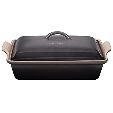 Le Creuset Stoneware Heritage Covered 4QT. Rectangular Casserole - Oyster