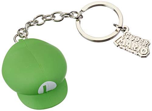 Super Mario Keychain Luigi Hat 3D Green