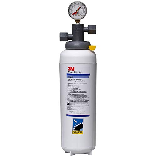 3M Water Filtration Products Water Filtration System for Commercial Ice Maker Machines ICE160-S, High Flow Series, Reduces Bacteria, Sediment, Chlorine Taste and Odor, 35,000 Gallon Capacity